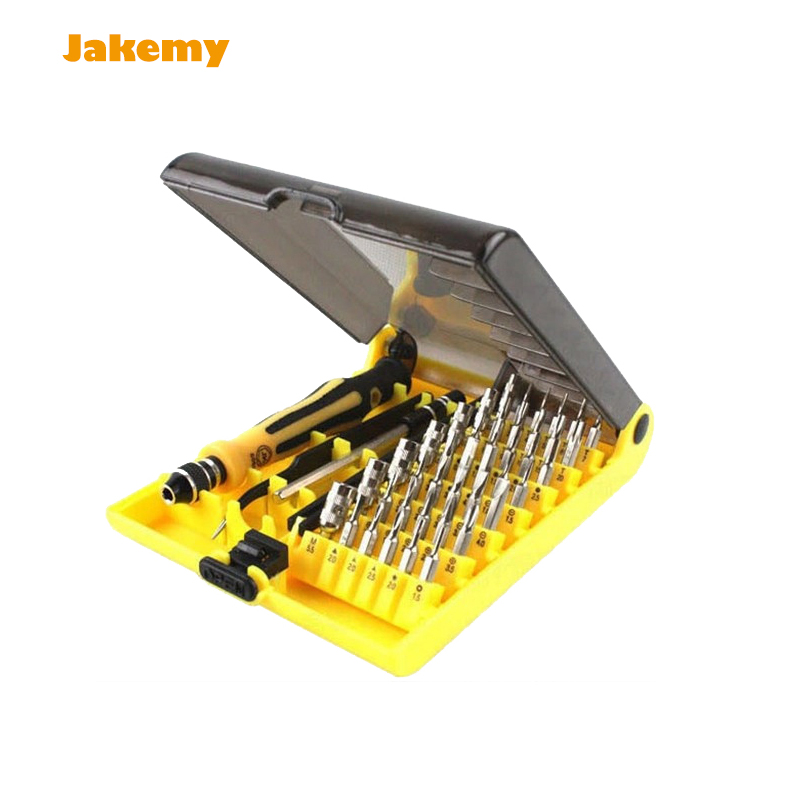 45 in 1 JK6089A Precise Screwdriver tool Torx Screw Driver Cell Phone notebook Repair Tools Set Tweezers Mobile Kit tool sets 100pcs pack 3 in 1 eyeglass screwdriver sunglass glasses watch repair tool kit with keychain portable screwdriver tool wholesale