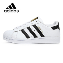ADIDAS Original  New Arrival SUPERSTAR Black White Womens Skateboarding Shoes Comfortable Street All Season For Women#C77154