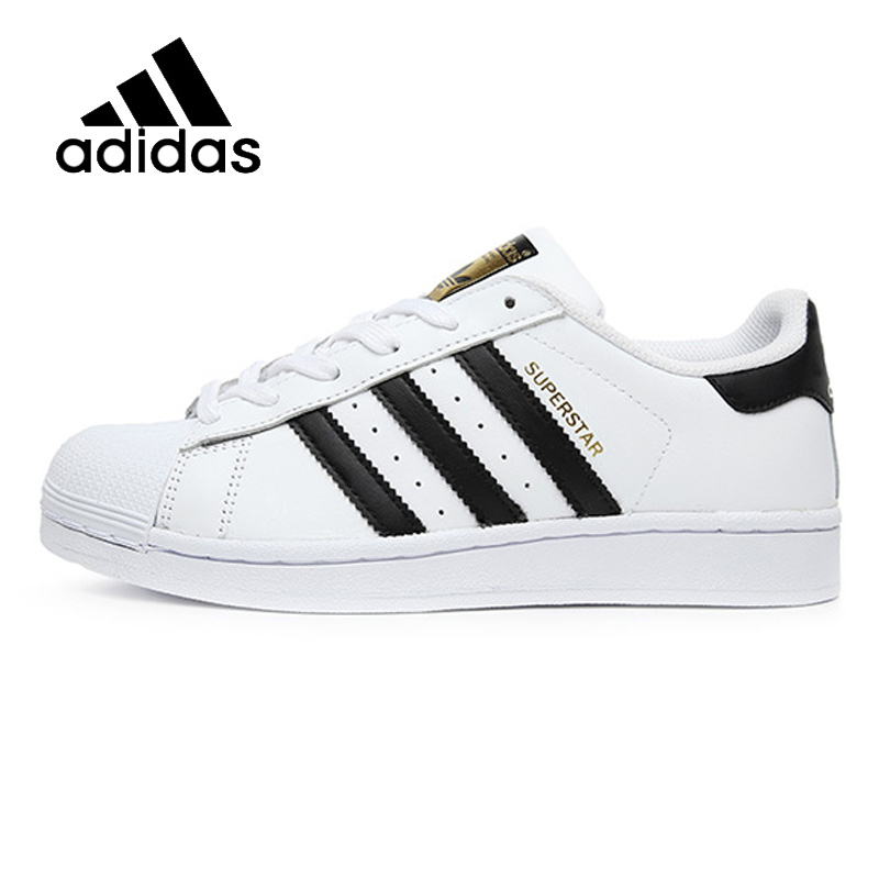 ADIDAS Original New Arrival Superstar Black White Womens Skateboarding Shoes Comfortable Street All Season For Women#C77154 2017 free shipping new arrival traditional tavas women colors casual shoes breathable max size 36 42 black white superstar