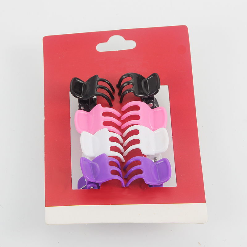 8pcs set Colorful Hair Claws for Girls Hair Styling Tools Crab Plastic Hair Clip Claw Mini Hair Claws for Girls Hair Accessories in Hair Accessories from Mother Kids