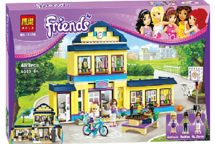 цена 489pcs Friends Heartlake High Performance School Stephanie 10166 Model Building Blocks Princess Toys Bricks Compatible Legoings