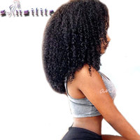 S Noilite Medium Afro Kinky Curly Wig Lace Front Synthetic Womens Wigs Synthetic For Black Women