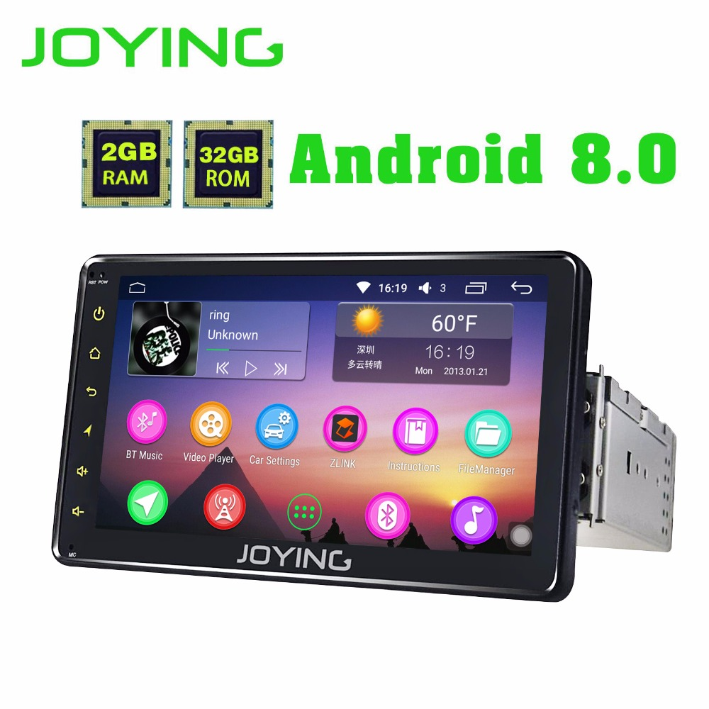 JOYING PX5 8 CORE Android 8.0 car radio 1 din 7'' car stereo HD Screen GPS navigation bluetooth head unit support Carplay system
