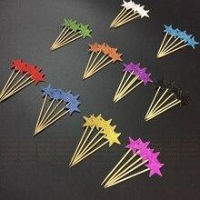 80 шт. Блеск 2 см/3 см Звезда Кекс Ботворезы Партия Поставки Twinkle Little Star Party 1-й День Рождения Свадьба Канун Нового года Партии