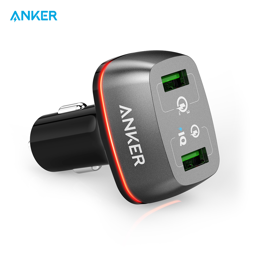 Mobile Phone Chargers Anker A2224 charging device charger quick charge car automobile tronsmart ts cc2pc quick charge 2 0 two port car charger for galaxy s6
