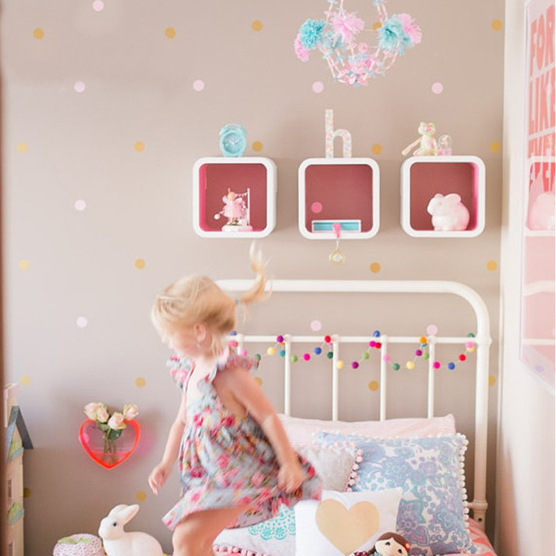 Aliexpress Buy 80pcsset Geometric Polka Dots Vinyl Wall