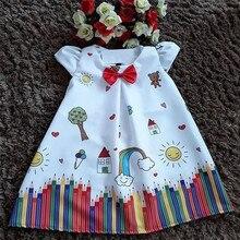 1-5T Pretty Toddler Kids Baby Girl Dress Cartoon Floral Tutu