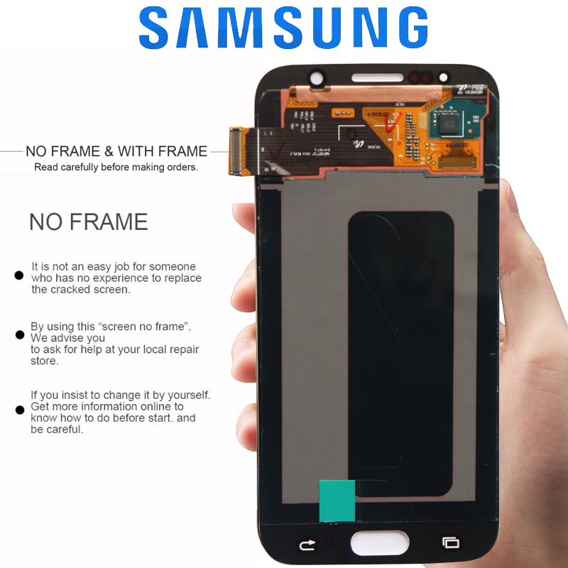 HTB1cVttXRGE3KVjSZFhq6AkaFXaY ORIGINAL 5.1'' AMOLED Burn-in Shadow LCD with Frame for SAMSUNG Galaxy S6 Display G920 G920F Touch Screen Digitizer Assembly