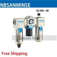 Air Preparation Units GC200 1 8 1 4 3 8 1 2 Three Units Filter Regulator