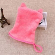 Red Reusable Orecchiette Microfiber Facial Cloth Face Towel Makeup Remover Cleansing Glove Tool  H7JP