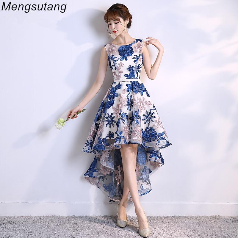 Robe de soiree 2019 lace up Scoop sexy elegant vestido de festa   evening     dress   Short Front Long Back Party   Dresses   prom   dresses
