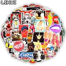100 pçs adesivo engraçado do punk anime jdm criativo decalque adesivos para adultos diy bagagem do portátil capacete da motocicleta carro guitarra adesivos