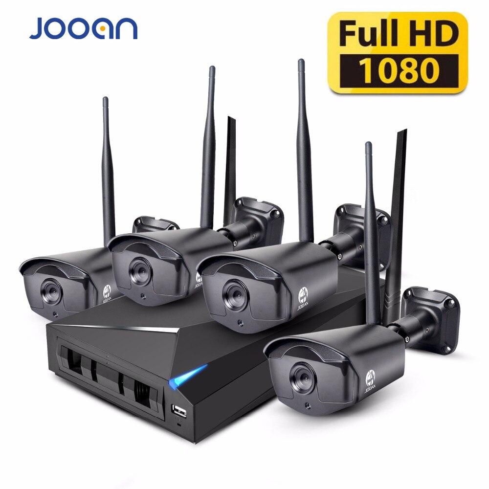 JOOAN Sistema di Sicurezza Wireless 4 Canali CCTV NVR Video Recorder 960 P WIFI Outdoor Network IP Camera Buona Visione Notturna