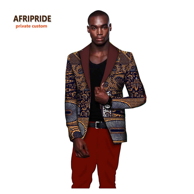 dad55e34 US $46.23 15% OFF|African fashion style men's suit jacket african clothes  latest coat designs print cotton wax private custom plus sizeA731401-in ...