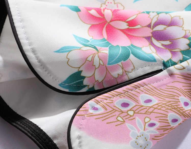 Sheng Coco Vrouw Phoenix Afdrukken Qipao Tops Chinese Stijl Overhemd Kleding Elegante Zomer Chinese Cheongsam Tops Pauw Patroon