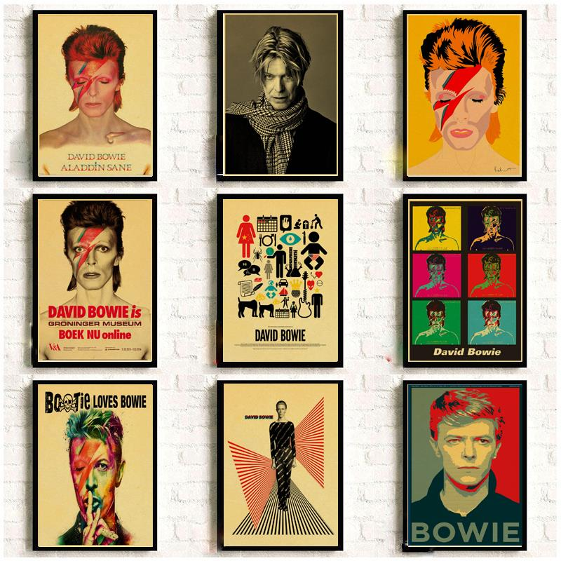 Vintage Poster DAVID-BOWIE Art Printed Retro Poster Home Decor Room Decorative Painting Vintage Wall Picture
