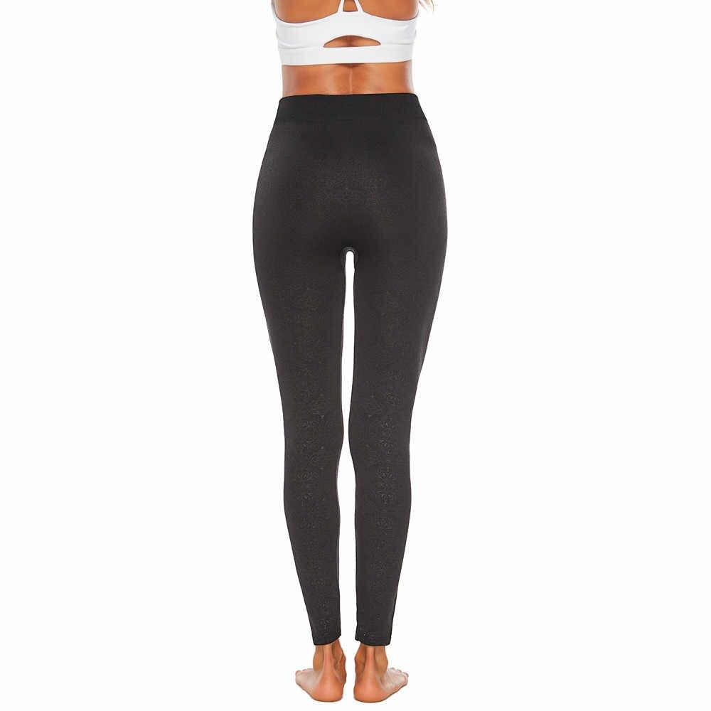 Frauen Kleidung Leggings damen Plus Größe Workout Vintage Print Leggings Fitness Sport Sportlich sexy shein Hosen 416