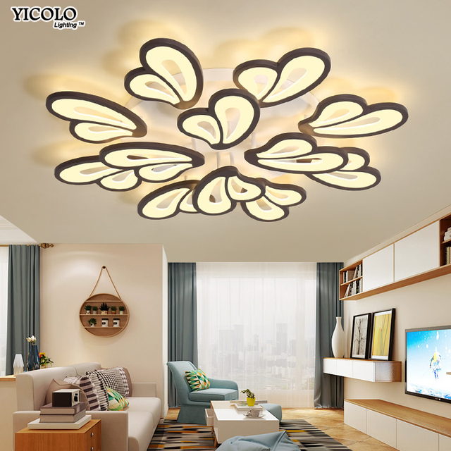 Surface mounted LED Ceiling Lights Lighting For Living Room Bedroom Dining Room 90~260V White Iron body Home Fixtures plafonnier