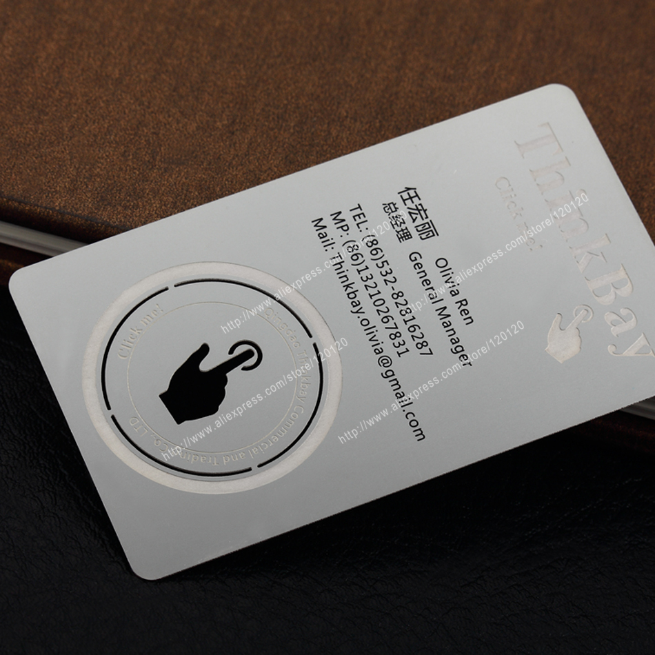 Personalized Printing Color Quality Stainless Steel Business Metal Card Metal Membership Card Design Metal Business Card Customi