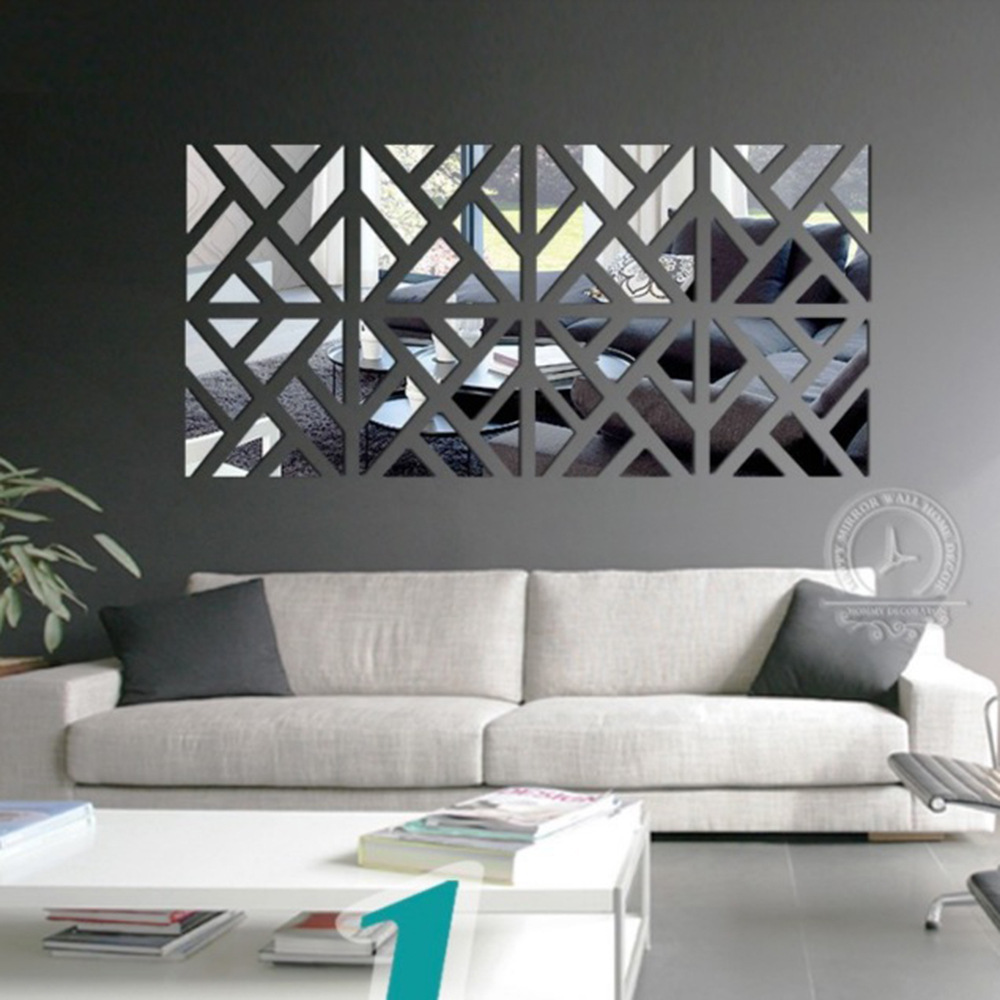 Diy Acrylic Mirror Wall Stickers Modern Home Decoration Decal Room For Living