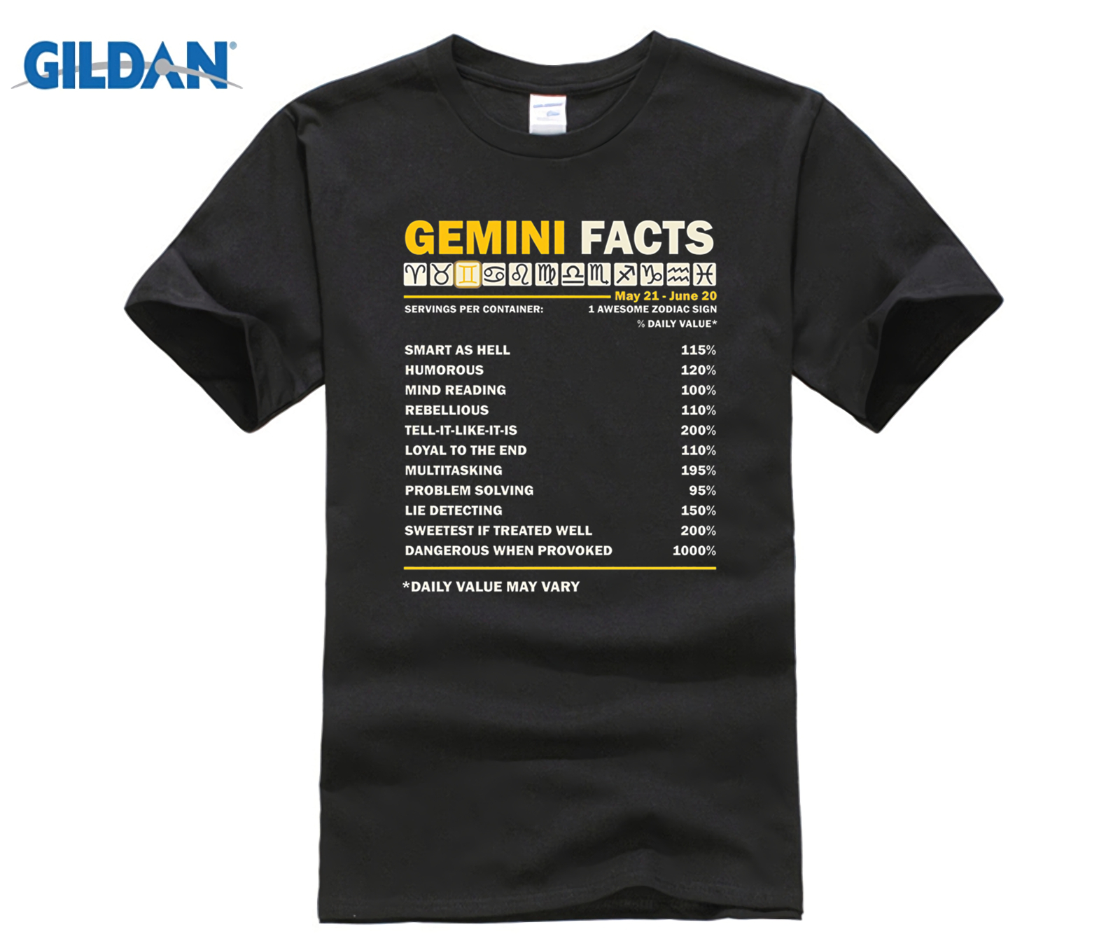 GILDAN Gemini Facts T Shirt Gemini Awesome Zodiac Sign Mothers Day Ms. T-shirt Dress fem ...