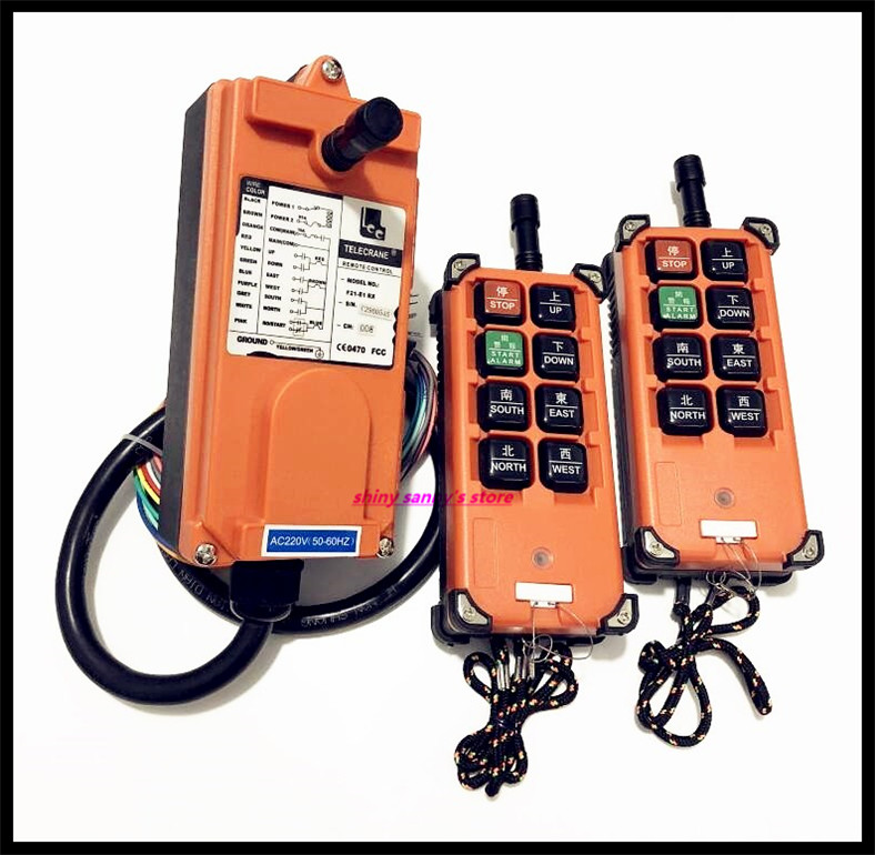 F21 E1B Industrial Radio Remote Control Hoist Crane Control Lift Crane 2x Transmitter + 1x Receiver Brand New-in Switches from Lights & Lighting