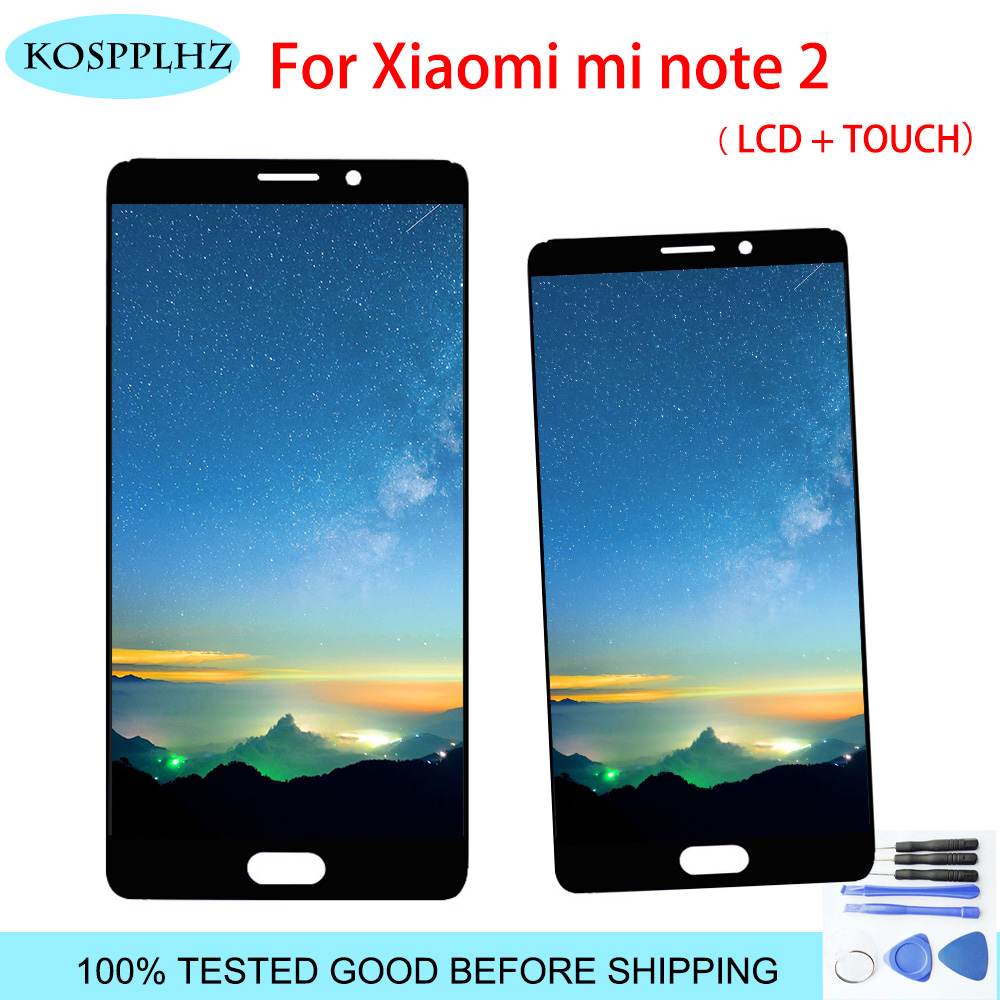 For 5.7″ Xiaomi Mi Note 2 LCD Display Touch Screen Digitizer Assembly Note2 1920×1080 Xiaomi Mi Note 2 Display phone+tools