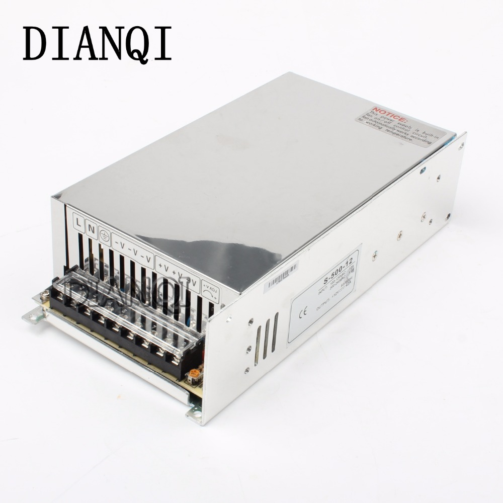 input 220v 110V power supply switch 500W 12v 40A ac dc converter S-500w 12v variable voltage regulator led driver S-500-12 led power supply switch 200w 12v 16 5a power supply unit ac dc converter s 200w 12v variable dc voltage regulator s 200 12