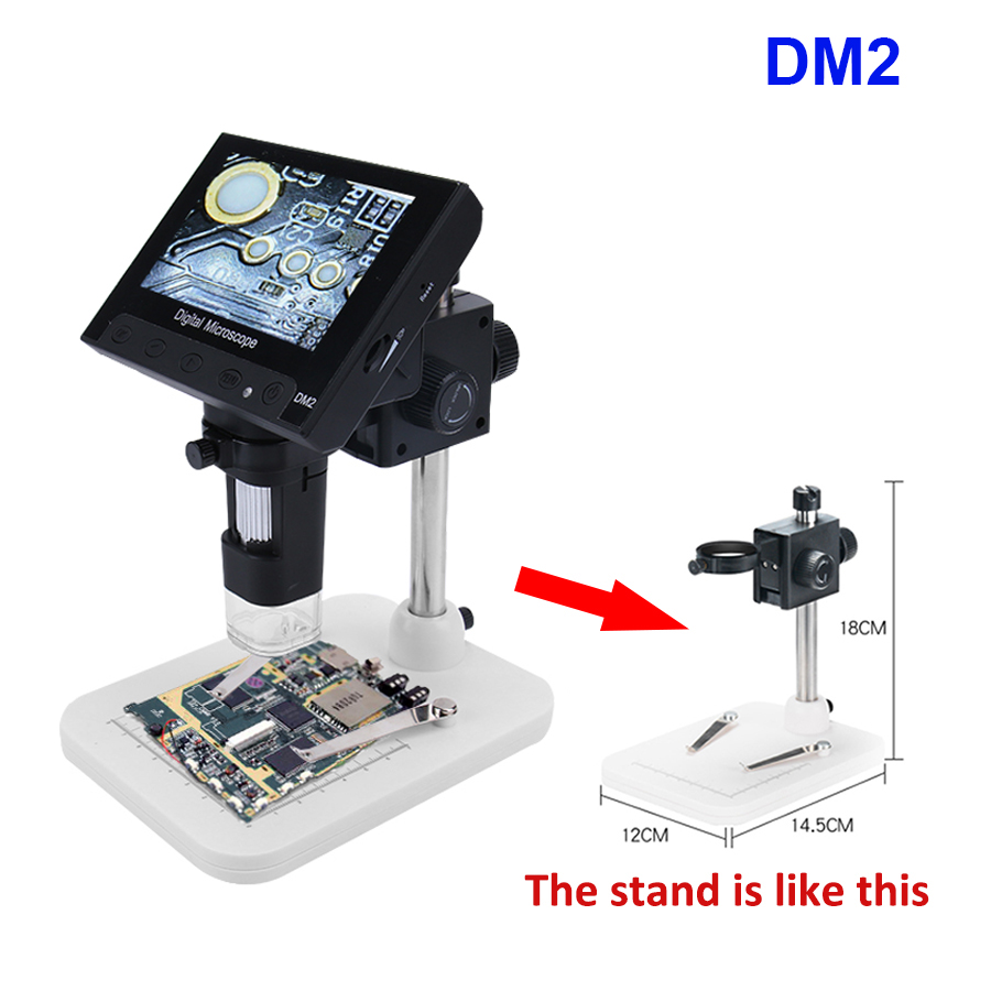 1000X Digital USB Microscope portable electronic video microscope for soldering reading With 4 3 HD OLED