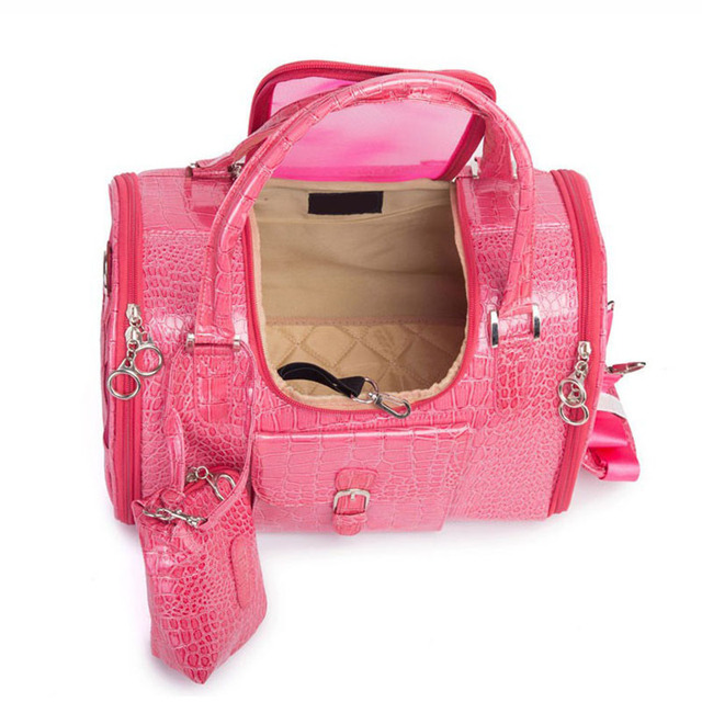 Portable PVC Pet Carrier Bag Puppy Kitten Travel Shoulder Bag Pet Handbag for Small Pets