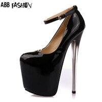2 Colors Size 34 43 Sexy High Heels 20cm Platform Shoes Pumps Women S Dress Fashion