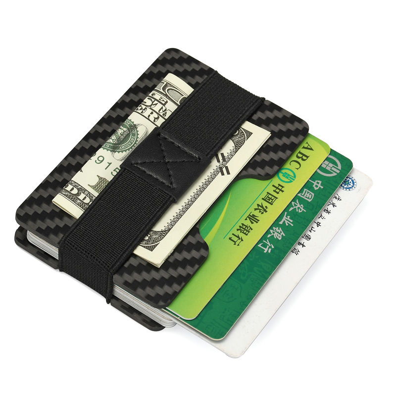 Carbon Fiber Minimalist Slim Money Clip Money Holder RFID Protector Wallet Clamp Credit ID Holder Porte Carte Fermasoldi