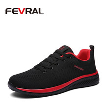 FEVRAL Hot Sale Summer Lightweight Sneakers Air Fashion Famous Men Shoes Comfortable Casual Style Men Footwear Tenis Masculino(China)