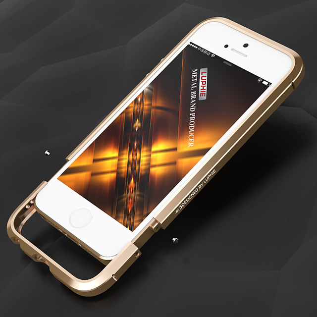 outlet store 3ebbd 63428 US $13.9  Original Brand Luphie Luxury Slim Ultra thin Aluminum Metal  Bumper For iPhone SE/5/5S Frame Capa+Genuine leather Sticker-in Phone  Bumper ...