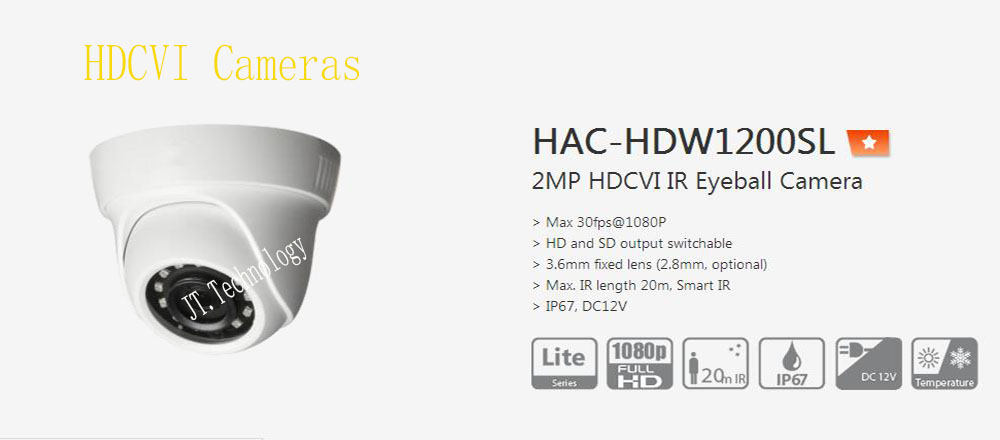 все цены на Free Shipping Original DAHUA Security Camera CCTV 2MP Surveillance HDCVI IR Eyeball Digital Video Camera No Logo HAC-HDW1200SL онлайн