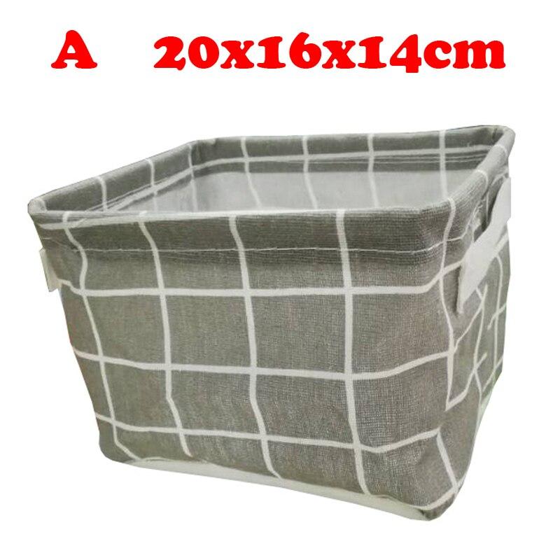 Настольный ящик для хранения с милым принтом, водонепроницаемый органайзер, хлопок, лен, корзина для хранения мелочей, шкаф, нижнее белье, сумка для хранения - Цвет: A