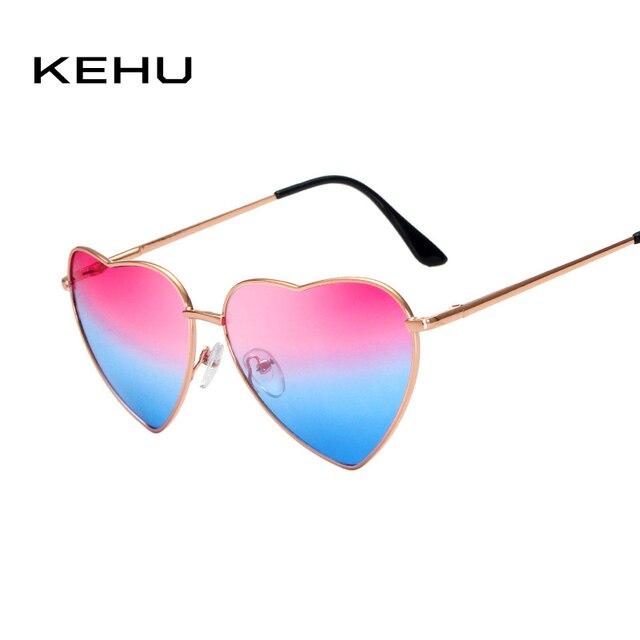 Coração Em Forma de Óculos De Sol DAS MULHERES de metal Reflexivo KEHU LENES Moda HOMENS ÓCULOS de sol oculos de sol Espelho NOVO k9073