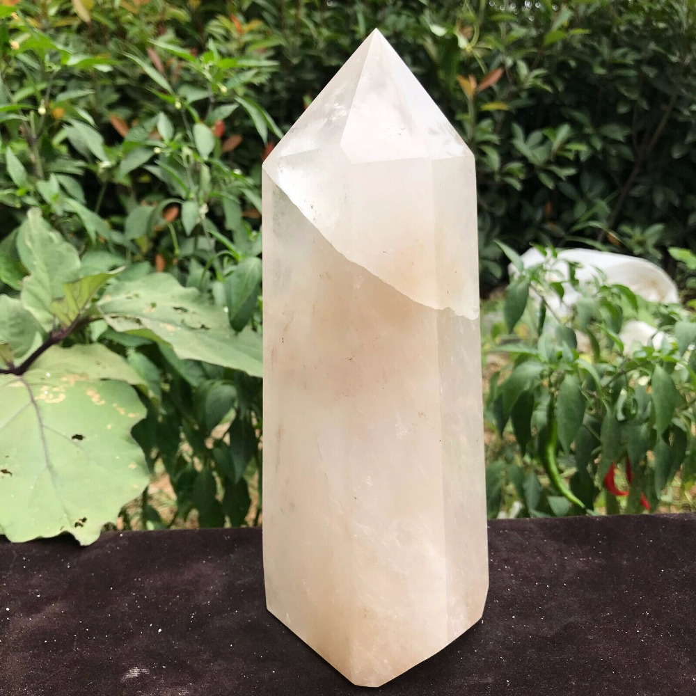 Large Clear Quartz Natural Point Cluster Crystal Rough Healing