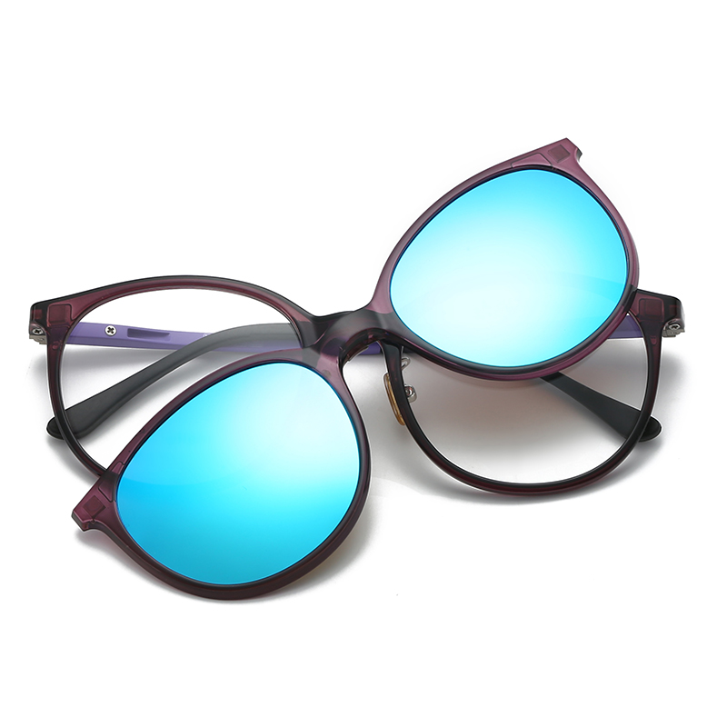 8785df33e20 Women   Men Polarized Magnetic Clip Glasses Male Driving Clip On Sunglasses  Prescription Magnet Myopia Glasses Frame With Case -in Sunglasses from  Apparel ...