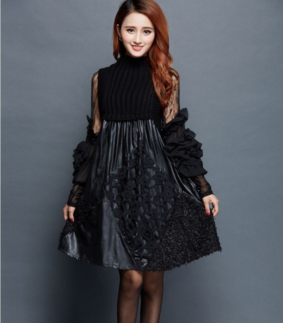 354d6362412bb US $44.18 18% OFF|2019 hot selling dresses women's fashion black lace slim  elegant sexy dress lady's working clothing 2 pcs size XL 2XL L #W37-in ...