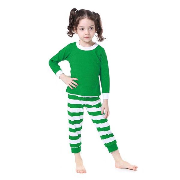 Kaiya Angel Christmas Girls Boutique Outfits Christmas Clothing Set Red Green Green Stripe Shirt Leggings Suit 2 Pcs Pajamas 8