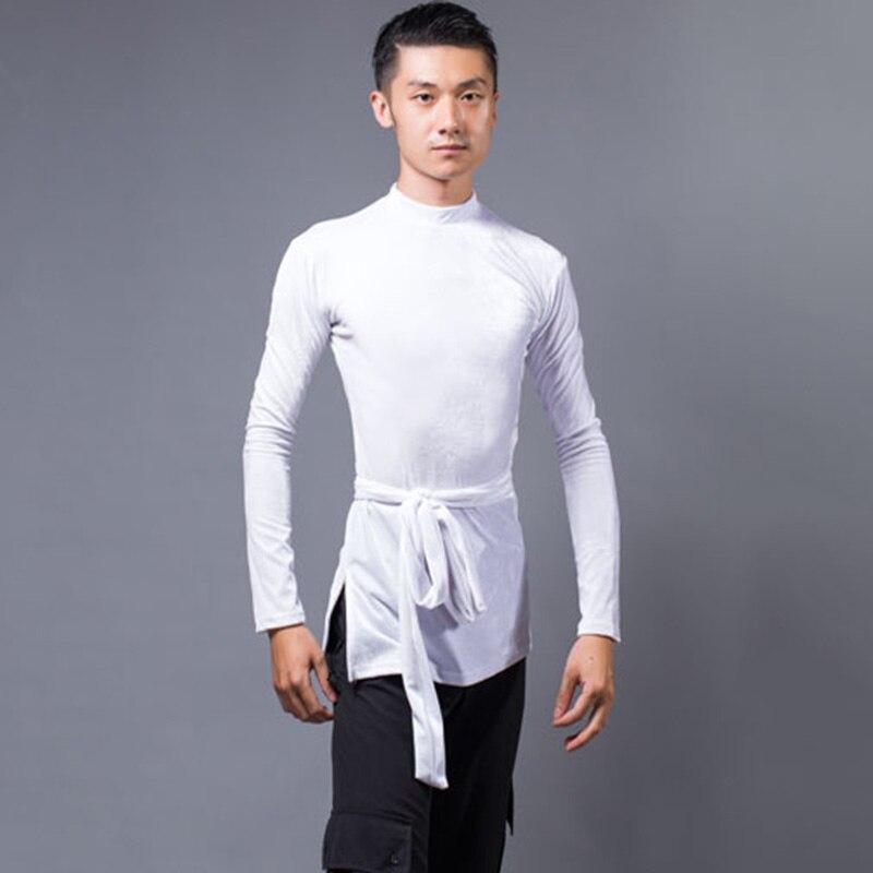 99d2eebea Tops de baile latino para camisa de baile para Hombre Ropa de entrenamiento  N3001
