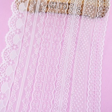 10 Yards White Lace Ribbon Decoration Tape Trim Trim Fabric Clothing Embroidered Cord for Sewing Decoration African Lace Fabric 10 yards beautiful lace ribbon tape 22mm lace trim fabric diy embroidered net lace trim cord for sewing decoration 11 colors