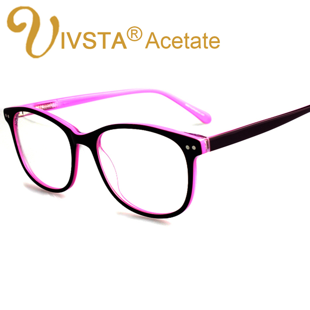 514724ff9f4 IVSTA Handmade Acetate Optical Frames Cat Eye Big Eyeglasses Prescription  Lenses Spectacle Myopia Customed Oversized Eyeglass