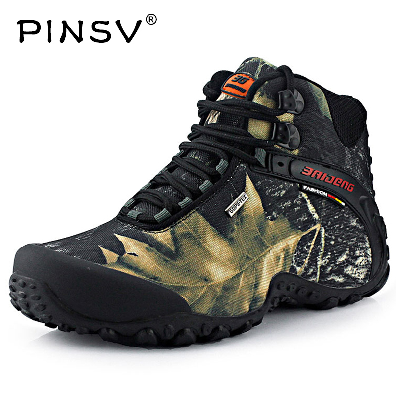 Pinsv waterproof hiking shoes mens espadrilles chaussure for Waterproof fishing boots