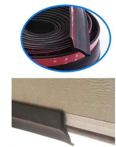 3/5.5m Garage Door Bottom Seal Weather Stripping Rubber Seal Strip Electric Door Bottom Seal Water Smoke Noise Seal Bumper Strip