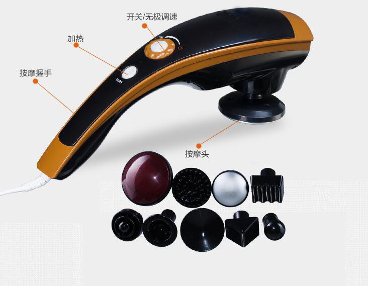 Dolphin Shape Infrared Electric Kneading Cervical Vertebra Massage Beating Massager Full Body Stress Release Electronic Relax dolphin head led infrared electric body vibrator massage electronic cervical vertebra massager vibration beating stress release