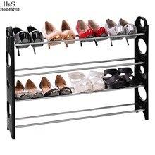 (Ship From US) Homdox Living Room Furniture Adjustable Shoe Racks Easy  Assembling Multilayer Dustproof Shoes Shelf 4 Tier #35 18