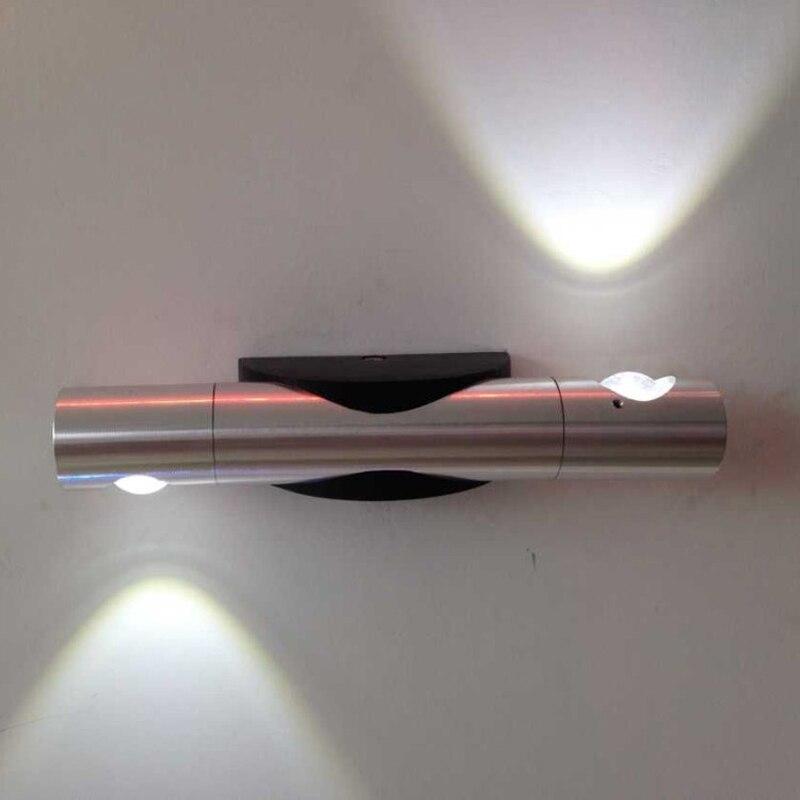 6W mur LED lampe créative applique luminaire intérieur avec aluminium mural pour salon chambre décoration vers le bas de la lumière