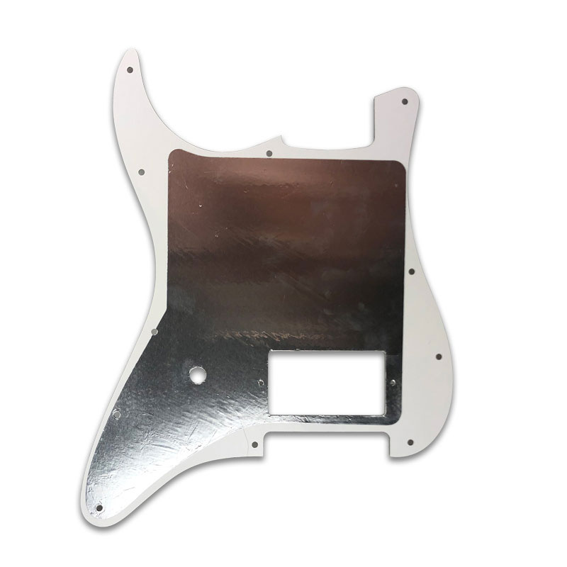 Купить с кэшбэком Pleroo Custom Guitar Parts - For USA/ Mexico 11 holes Strat spec Blank Pickguard With bridge PAF Humbucker Scratch Plate